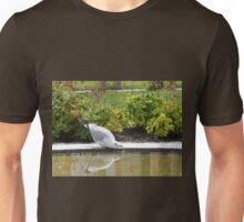 Bird Drinking from a Pond Unisex T-Shirt