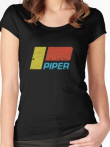 Piper Vintage Aircraft Women's Fitted Scoop T-Shirt