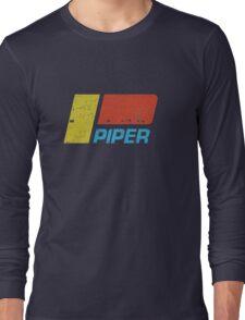 Piper Vintage Aircraft Long Sleeve T-Shirt