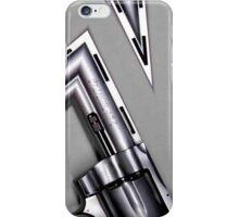 silver revolver iPhone Case/Skin