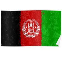 Afghanistan Flag Grunge Poster