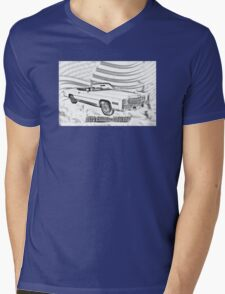 1975 Cadillac Eldorado Convertible Illustration Mens V-Neck T-Shirt