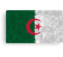 Algerian Flag Grunge Canvas Print