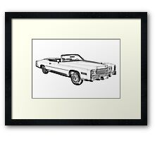 1975 Cadillac Eldorado Convertible Illustration Framed Print