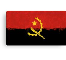 Angolan Flag Grunge Canvas Print