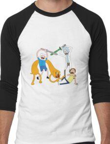 Rickventure Time Men's Baseball ¾ T-Shirt