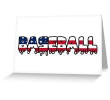 Baseball American USA Greeting Card