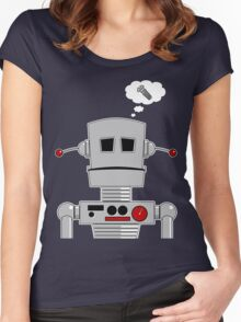 Robot Screw Women's Fitted Scoop T-Shirt