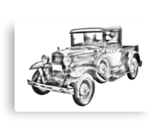1930 Model A Ford Pickup Truck Illustration Canvas Print