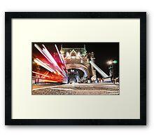 tower bridge on motion Framed Print