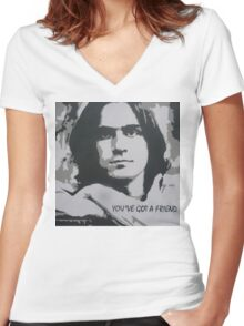 You've Got a Friend Women's Fitted V-Neck T-Shirt