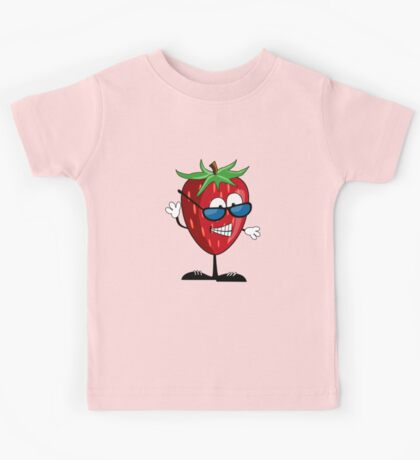 Cool Strawberry Character Kids Tee