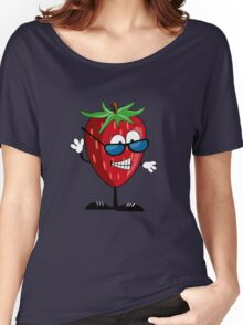Cool Strawberry Character Women's Relaxed Fit T-Shirt