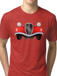 Vintage model of the car from the front view Tri-blend T-Shirt