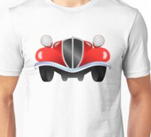 Vintage model of the car from the front view Unisex T-Shirt