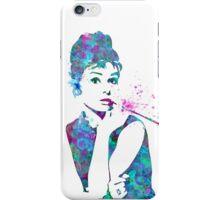 Audrey Hepburn Watercolor Pop Art  iPhone Case/Skin