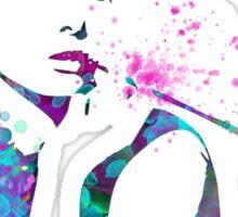 Audrey Hepburn Watercolor Pop Art  Sticker