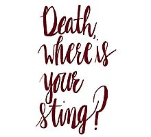 Death, Where is Your Sting? Photographic Print