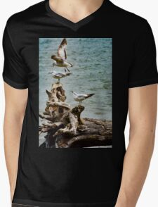 Two On-One Off Mens V-Neck T-Shirt