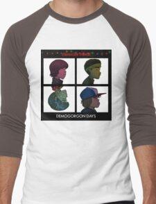 Stranger Things - Gorillaz Album Cover Style Men's Baseball ¾ T-Shirt