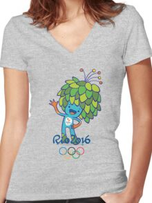 mascot Paralympics game rio 2016 Women's Fitted V-Neck T-Shirt