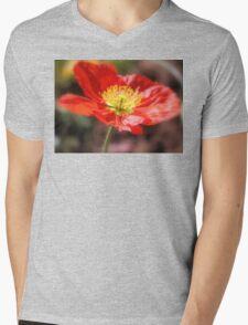 Fiery Red Mens V-Neck T-Shirt