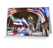 bus on the tower bridge Greeting Card