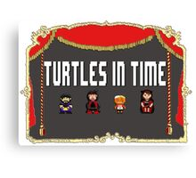 NCW Turtles in Time Official Merchandise Canvas Print