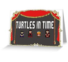 NCW Turtles in Time Official Merchandise Greeting Card