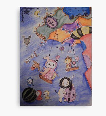 kawaii circus Canvas Print