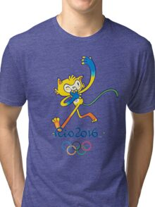 Rio 2016 mascot olympiade brasil Tri-blend T-Shirt