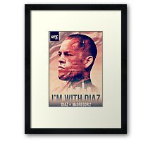 Ufc 202 - Im With Nate Diaz v Conor MCGregor Framed Print
