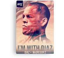 Ufc 202 - Im With Nate Diaz v Conor MCGregor Metal Print