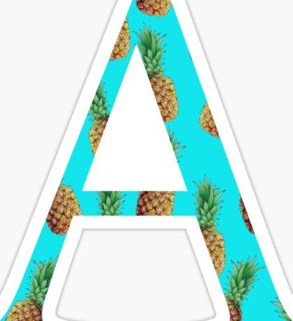 Alpha Pineapple Letter Sticker