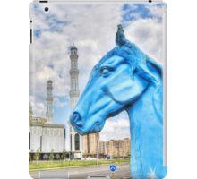 Blue Horse in Astana Kazakhstan iPad Case/Skin