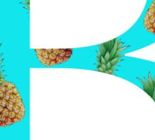 Beta Pineapple Letter Sticker
