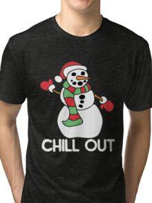 Chill out snowman Tri-blend T-Shirt