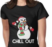 Chill out snowman Womens Fitted T-Shirt