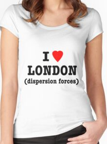 I Love London (Dispersion Forces) Women's Fitted Scoop T-Shirt