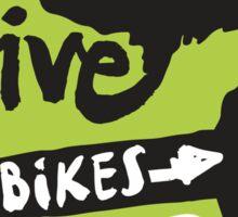 Give Bikes 5 Feet : Trail Green Sticker