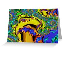Psychedelic Fractal Mushroom Greeting Card