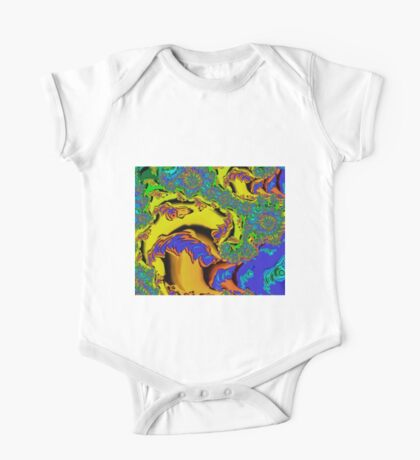 Psychedelic Fractal Mushroom One Piece - Short Sleeve