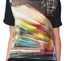 double decker bus in london Chiffon Top