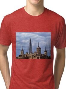 The White Tower and The Shard, London Tri-blend T-Shirt