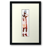 Lebron James shoots an Apple Framed Print