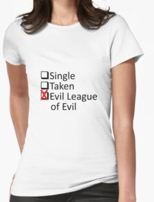 Evil League Of Evil Member Womens Fitted T-Shirt