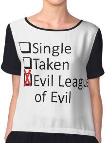 Evil League Of Evil Member Chiffon Top