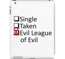 Evil League Of Evil Member iPad Case/Skin