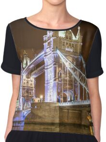 tower bridge view  Chiffon Top
