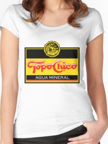 Topo Chico T-Shirt Print Women's Fitted Scoop T-Shirt